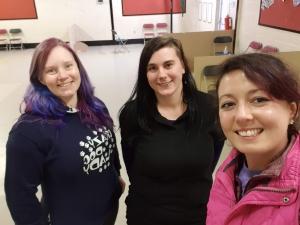 Danielle, Kayleigh and Jennifer